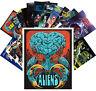 Postcards Pack [24 cards] Aliens and Girls Scifi Trash Movie Vintage Ads CC1078