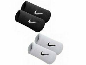 NEW! Nike Premier Swoosh Doublewide Wristbands Tennis Sweatbands White or Black
