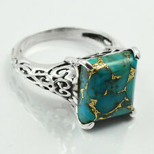 Copper Turquoise 925 Sterling Silver Ring Allison Co Jewelry Size-6.75 SR-42969