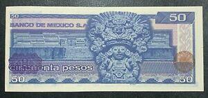 1973-1978 Mexico 50 Pesos Banknote
