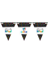 Officially Retired Triangle Bunting Party Decoration