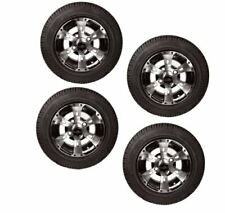 "Colossus 10"" Machined Face Golf Cart Wheels & Tires- Set of 4"