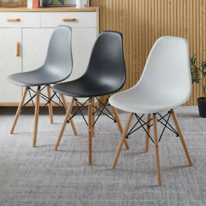 Set of 4 Dining Chair Armless Chair Lounge Chair For Kitchen Restaurant Modern