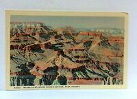 Grand Canyon National Park Arizona Moran Point Fred Harvey Linen Postcard