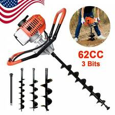62cc Gas Powered Earth Drill Power Engine Post Hole Digger3 5 8 Auger Bit Us