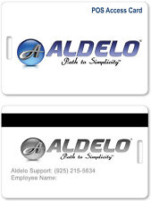 Aldelo Employee Access Cards pack of 10 for Aldelo POS pre encoded 2 sides NEW
