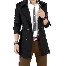 Hombre Adolescente Entallado Abrigo Doble Botonadura chaqueta larga invierno