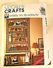 Craft Pattern Folk Art Northwoods Quilt Wall Hanging Stockings Pillows McCall's