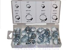 "40 Pc Hose Clamp Assortment Set Sizes 1/2"" to 1-1/2"" Gear Type Assorted Clamps"