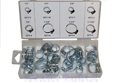 """40 Pc Hose Clamp Assortment Set Sizes 1/2"""" to 1-1/2"""" Gear Type Assorted Clamps"""