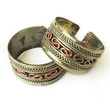 Wide Adjustable Tibetan Brass Weaving Braided Red Copper Threads Amulet Ring