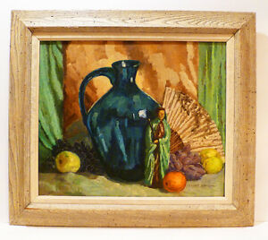 ROBERT MARCEL GOUELLAIN ( PICASSO FRIEND) 50's STILL LIFE OIL PAINTING  LISTED