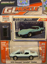 GREENLIGHT 1:64 SCALE DIECAST METAL TWO TONE BLUE 1978 CHEVROLET CORVETTE