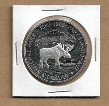 1985 Canada Silver Dollar from Double Dollar Set 50% Silver