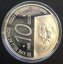 PAYS-BAS 10 Gulden 1995 Silber Hugo de Groot Beatrix