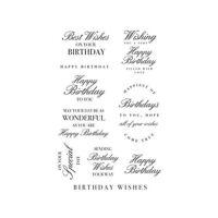 Happy birthday Acrylic stamp Kaisercraft Birthday wishes