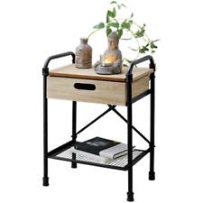 MEUBLE TABLE CHEVET APPOINT INDUSTRIEL BOIS GUERIDON ORIENTAL DESIGN LOFT 7905