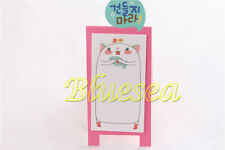 Funny Poppy Cat Sticky Notes Stick Bookmark Mark Flag Tab Pad Post It Memo