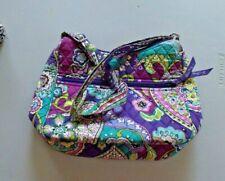 Vera Bradley Heather Pattern Purple Multi Teal On The Go Shoulder Bag Purse retd