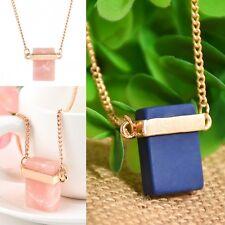 New Elegant Cubic Zirconia GemStone Necklace Charm Pendant Crystal Chain Jewelry