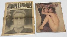 Vintage 1981 ROLLING STONE Magazine &1980 Newspaper John LENNON YOKO ONO BEATLES