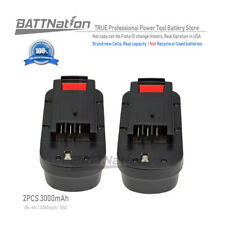2x 18v 3000mAh NiMh Battery for Black & Decker 244760-00 A18 Firestorm FSB18