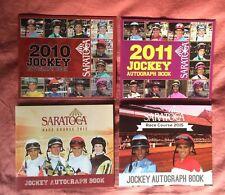 4 Saratoga Jockey Autograph Books, 2010, 2011, 2012, 2015