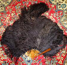 Ab-195 Fan Ostrich Feathers. Carey Rods Simile. EspaÑA.Circa 1930