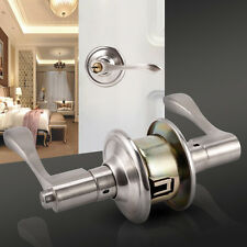 Scroll Style Door Bed Bath Privacy Lever Knob Lock Handle Hardware Keyed Passage