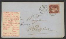 Great Britain Stamp Scott #12 on 1862 Cover, singe franking,