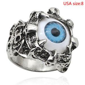 Unisex Women Men Punk Eyes Claw Biker Gothic Ring Retro creativity Size 8 9 1 N&