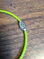 Mental Health/Depression Awareness Bracelets (Green)
