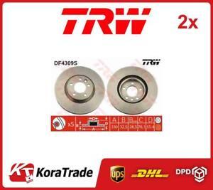 2x DF4309S TRW OE QUALITY BRAKE DISC SET