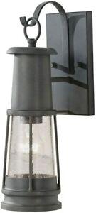 Elstead Lighting Chelsea Harbour Outdoor 1 Light Wall Lantern, Grey