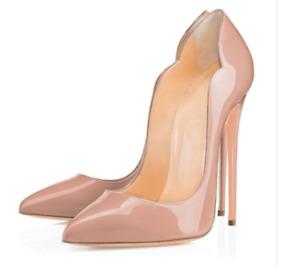 Klassisch Sexy 12cm High Heel Pumps Nachtclub Damen Abend Schuhe Stiletto Vogue