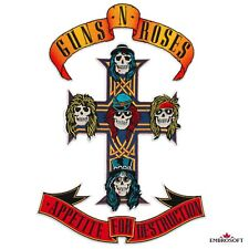 "Guns N' Roses Appetite for Destruction Emblem Embroidered Patch Iron On 11""x16"""