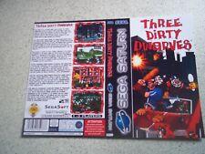Three Dirty nains Pal Sega Saturn remplacement Inlay. REPRODUCTION