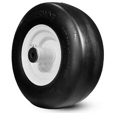 """1 New Residential 11x4-5 Flatfree Smooth TIRE for Lawnmower-Hub 5-7"""" Bore1/2 &1"""