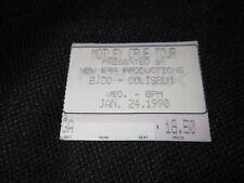 1990 Motley Crue Concert Ticket * Vintage * BJCC Birmingham, AL 1/24/1990 90 90s