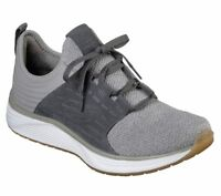 Skechers shoes Men Gray Comfort Casual Memory Foam Soft Sport Slip On Lace 52967