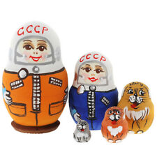 mini soviet astronaut hand painted l Russian Nesting Doll 5 Pcs 2.5*inches