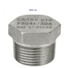 "HEX PLUG SOLID 304 STAINLESS STEEL 3000/6000# 1/2"" NPT PIPE FITTING <853.WH"