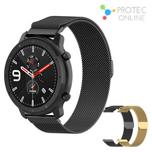 For Samsung Galaxy Watch Active Band 42 46mm Magnetic Stainless Steel Strap