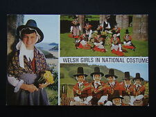 WELSH GIRLS IN NATIONAL COSTUME POSTCARD