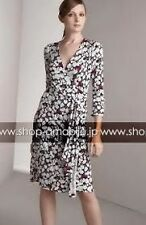 DIANE von FURSTENBERG Women's Wrap Dress Julian Honeysuckle/Navy SZ 12 $395 NWT
