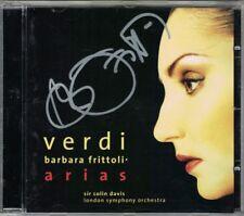 Barbara FRITTOLI Signiert VERDI ARIAS La Traviata Luisa Miller CD COLIN DAVIS