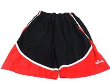 SPALDING MENS BLACK & RED POLYESTER ATHLETIC SHORTS SIZE LARGE