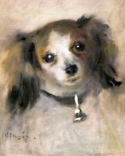 PAPILLON DOG CUTE RENOIR OIL PAINTING ART REAL CANVAS PRINT OR BRITTANY SPANIEL