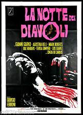 LA NOTTE DEI DIAVOLI MANIFESTO CINEMA FILM (1° TIPO) HORROR 1972 MOVIE POSTER 4F