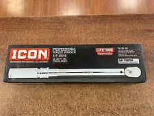 ICON TW38-100 3/8'' PROFESIONAL DRIVE TORQUE WRENCH 64065 90 THOOTH NEW